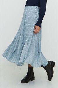 Oliver Bonas Womens Smart Work Party Pleated Midi Skirt Green Sz 10~BNWT £69
