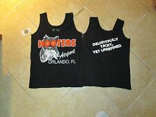 "HOOTERS AUTHENTIC SERVERS ORLANDO ""AIRPORT"" TOP (SMALL) BLACK WORK/COSTUME"