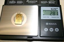 Credit Suisse Zurich 2.5 Grams Fine Gold Bar 999.9 PENDANT in 14k Frame & Bale