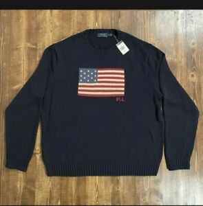 Polo Ralph Lauren Men's American Flag Cotton Sweater L