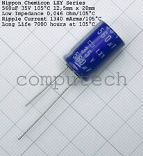 560uF 35V 105°C NIPPON CHEMICON LXY series  low impedance long life 1 pezzo