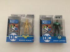 2020 SPIN MASTER DC HEROES UNITE WONDER WOMAN GOLD & GREEN LANTERN 4 INCH FIGURE