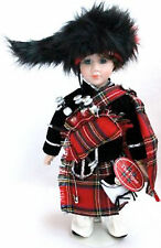 Leonardo Collection Highland Piper Porcelain Doll figure Scottish Souvenir