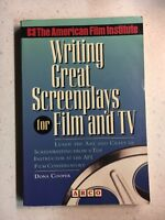 Writing Great Screenplays for Film and TV, Cooper, Dona, Good Condition, Book