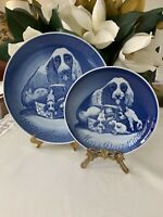 Bing Grondahl 1969 MORS DAG 1979 1969 Mother's Day  Plates C Spaniel Dog Puppies