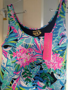 New Lilly Pulitzer Luxletic Sunray Bra Tank You Me And Giraffe Small (14174)