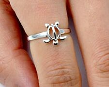 .925 Sterling Silver Ring size 8 Turtle Midi Knuckle Fashion Kid Ladies New p95