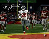 "Leonard Fournette Buccaneers Super Bowl LV Champs Signed 8"" x 10"" Action Photo"
