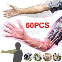 50tlg Einmalhandschuhe Veterinärhandschuhe Einweghandschuhe armlang Landwirt