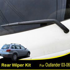 Tailgate Rear Windshield Wiper Blade Arm Set For Mitsubishi Outlander 2003-2006
