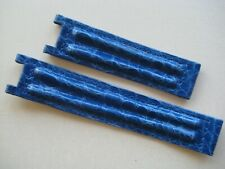 GENUINE CARTIER PASHA WATCH STRAP BAND ROYAL BLUE CROCODILE LEATHER 20 mm/18 mm