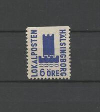 No: 63292 - SWEDEN - LOCALPOST (1945) - HÄLSINGBORG - OLD 6 ÖRE STAMP - NO GUM!!