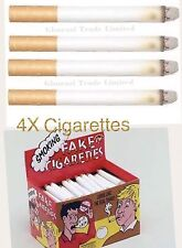 4x Fake Cigarettes Smoking Effects Lit Theatrical Stage Prop Novelty Joke Trick