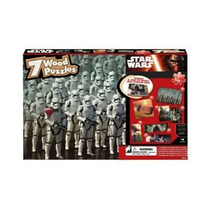STAR WARS - 7 DIFFERENT WOOD JIGSAW PUZZLE PACK C3PO R2D2 Kylo Ren StormTroopers
