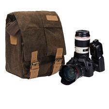 Canvas Camera Case Gadget Shoulder Bag Backpack for Canon Nikon Sony SLR DSLR UK