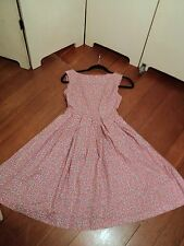 . dangerfield pretty feedsack  floral vintage print tea dress 1950s fit & flare