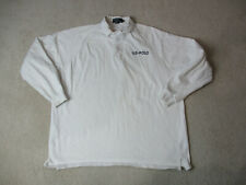 VINTAGE Ralph Lauren Polo Long Sleeve Shirt Adult Extra Large US Polo Mens 90s *