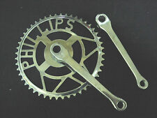 """Vintage Phillips bicycle bike Chainwheel Sets 48T  6 1/2"""" 1960s NOS England"""