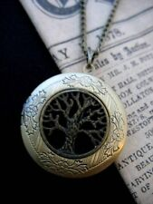 Árbol de la vida Medallón Collar Colgante Gótico Oscuro Negro Bronce Antiguo Vintage