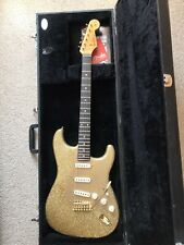 Custom Masterbuild Stratocaster Guitar In Gold Sparkle.USA Genuine Fender Parts