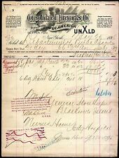 1896 Consolidated Fireworks Co of America New York Vintage Letter Head Rare