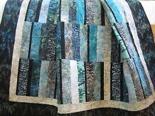Handmade Batik Modern Quilt Ocean Colors