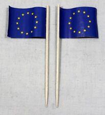 Party-Picker Europa Europaflagge 50 Stk. Profiqualität Dekopicker Papierfähnchen