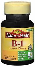 Nature Made Vitamin B-1 100 mg Tablets 100 Tablets (Pack of 2)
