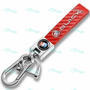 Red Chrome Leather Gift Keychain Lanyard Quick Release Key chain for All Buick