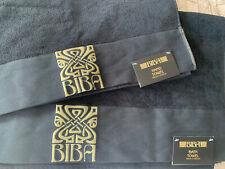 BIBA Bath Towel & Hand Towel, Black/ Gold