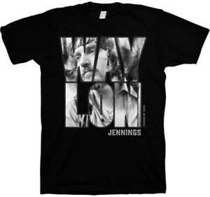 Waylon Jennings Portrait Adult Mens Country Music T Tee Shirt JMM-JNN-2072