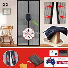 2 X Mesh Magnetic Fly Screen Mosquito Pet Patio Net Bug Door Curtain Hands Free