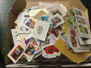 Australian Stamps On Paper Bulk 1/2 a KILO (500g) (kilo-ware) only 3 boxes