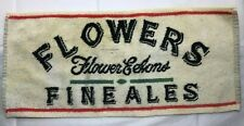 Vintage terry cloth Flower'S Fine Ale bar/ golf towel - circa 1960's