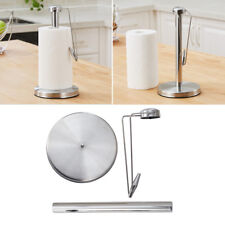 Stainless Steel  Kitchen Free-Standing Upright Paper Towel Tissue Holder Stand