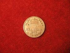 "1873, "" KB "" 10 Krajczar. Very Fine.  Hungary. Rare Date!"