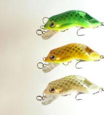 3 x Topwater Frogs Fishing Crankbait Lures-002