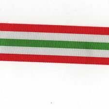 """Medal Ribbon 2nd. World War Italy Star. Full Size. Sold in 6"""" Lengths"""