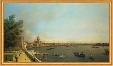 London: The Thames from Somerset House Terrace Canal England Fluß B A2 02083
