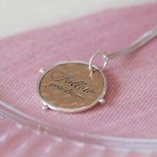 'Follow Your Dreams' Necklace, Sterling Silver Necklace, Dreams (B5)