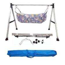 Baby Cradle, Cote, Swing fully folding Steel with two pc of cotton hammock.