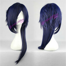 DRAMAtical Murder DMMD Koujaku cosplay wig mixed color navy blue