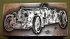 """Década de 1930 """"Bentley"""" Automóvil. bloque de impresión."""