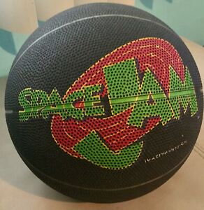 VTG 1996 Space Jam Big Logo Basketball Ball Michael Jordan Rare Black