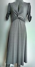 EAST casual jersey dress size 10 --BRAND NEW-- Below knee elbow sleeves