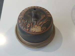 Vintage Tremar Pottery Stoneware Cheese Dome Dish - Excellent Condition