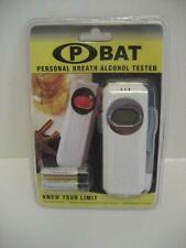 New P-Bat Digital Breathalyzer, Portable Personal Breath Alcohol Tester, White