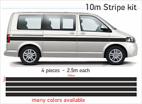 10m Camper Van Bus Stripes CARAVAN  Graphics Decals Stickers Set