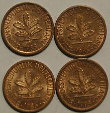 1 Pfennig 1985 D F G J SET COMPLETO