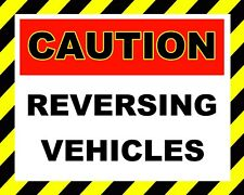 "10"" x 8"" REVERSING VEHICLES CARS LORRIES GARAGE WAREHOUSE METAL PLAQUE SIGN 677"